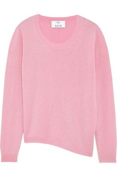 Allude - Asymmetric Wool And Cashmere-blend Sweater - Baby pink -