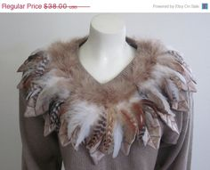 Feather Sweater / Native American / Womens / by TheThriftingMagpie, $32.30