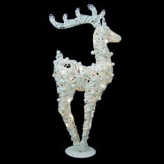 Northlight Battery Operated Glittered LED Lighted Reindeer Christmas Decoration