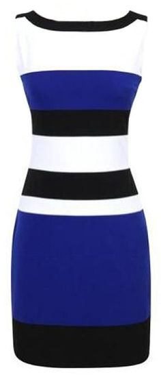 Stripe Sleeveless Bodycon Dress