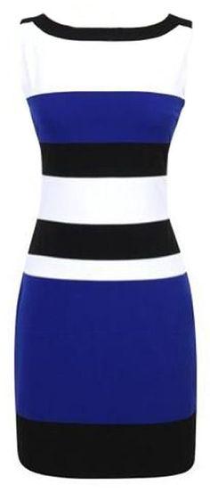 Stripe Sleeveless Bodycon Dress