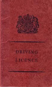 1960's UK Driving Licence.