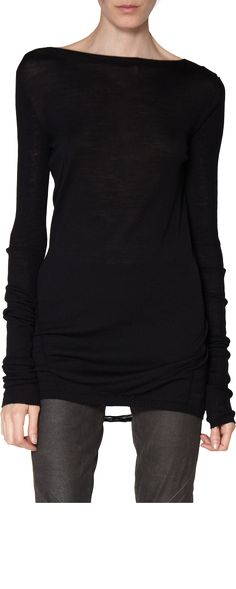 Rick Owens Long Sleeve Yarn Sweater #style #inspiration