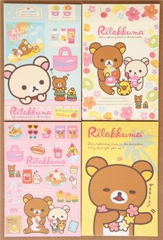 colourful Hawaii Aloha Rilakkuma bear letter paper set