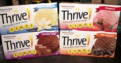 Thrive Ice Cream treats, creamy, delicious with the nutritional value of a meal replacement supplement! But tastes better than most ice creams!