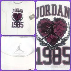 Air Jordan Jumpman Nike Heart 1985 Shirt Girls 6X   eBay