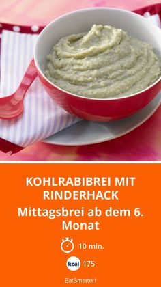 Kohlrabibrei mit Rinderhack - Mittagsbrei ab dem 6. Monat - smarter - Kalorien: 175 Kcal - Zeit: 10 Min. | eatsmarter.de