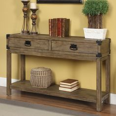 Coast to Coast Imports 2 Drawer Console Table & Reviews | Wayfair