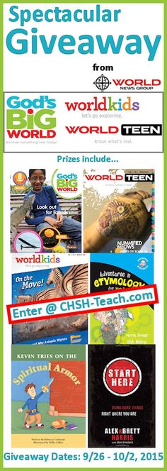 Enter to win on of these fabulous prized (Ends @ 11:59pm October 2, 2015) http://www.christianhomeschoolhub.com/