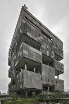 Roberto Gandolfi, José Sanchotene, & Burle Marx - Petrobras headquarters, Rio de Janeiro 1968. Via weyerdk.