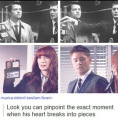 You can see the exact moment dean's heart broke