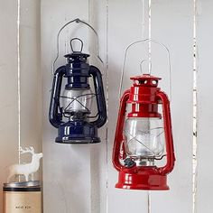 These whimsical, vintage-inspired LED storm lanterns (with dimmer switch & yellow light that mimics natural firelight) are not only decorative but practical.