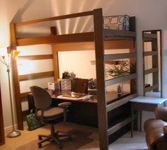 Queen Size Loft Bed IKEA : IKEA Queen Size Loft Bed With Decorative Lighting