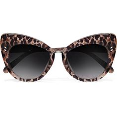 6bdc9fd906d Stella McCartney Cat-eye leopard-print acetate sunglasses ( 220) ❤ liked on