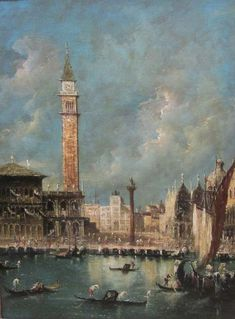 Manner of Francesco Guardi (20th century) <br>  St Marks Square, oil on canvas unsigned 40cm x 29cm  <br>