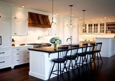 Darker tones from Marcia Tucker Interiors. #laylagrayce #kitchen