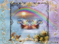 Arcobaleno - PicMix Good Morning Post, Fantasy Artwork, Fractals, Gifs, Diy Crafts, Animation, Joy, Amazing, Photos