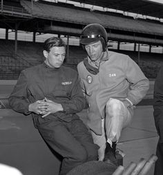 Jim Clark & Dan Gurney  Indy 500 testing 1963