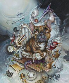 "In-Focus: Surreal Acrylic Paintings by Greg ""Craola"" Simkins Surreal Artwork, Cool Artwork, Art And Illustration, Fantasy Kunst, Fantasy Art, French Bulldog Art, Photo D Art, Cute Monsters, Lowbrow Art"
