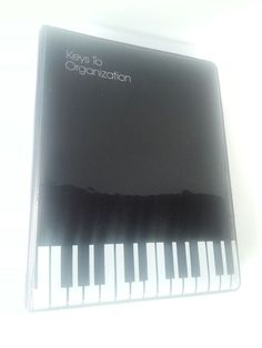 Agenda Organizer Planner Binder Front Cover Piano Keys Card Holder Calendar More #PianoPlayer #music