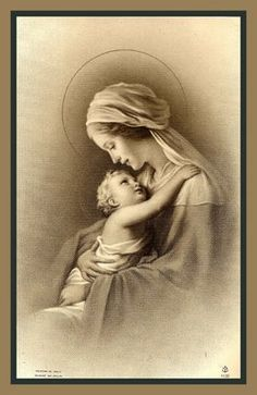 Holy Cards For Your Inspiration via Maria Jose ~~ What a beautiful image of the Blessed Mother and Baby Jesus....