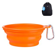 SGODA Travel Dog Bowl Collapsible For Food and Water with Carabiner FDA Approved orange * Learn more by visiting the image link. Collapsible Dog Bowl, Travel Cup, Cat Feeding, Water Supply, Food Grade, Dog Bowls, Pet Supplies, Canning, Orange