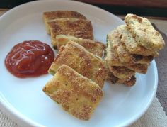 """Gluten Free Dairy Free Oven Baked """"Fried"""" Pickles - Sunday Scratchups"""