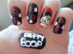 Betty Boop by Stoneycute1 - Nail Art Gallery nailartgallery.nailsmag.com by Nails Magazine www.nailsmag.com #nailart