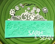 Sugar Lace 21  flower instant lace mold cake mold silicone baking tools kitchen accessories decorations for cakes Fondant lace mat