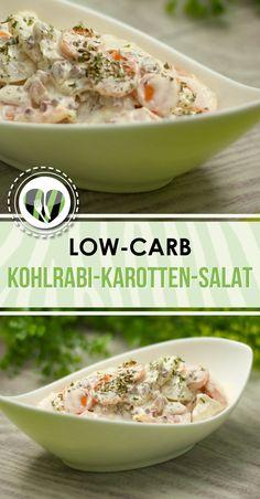 Der Kohlrabi-Karotten-Salat ist die kohlenhydratarme Variante eines Kartoffelsalats. Er ist low-carb und superlecker.