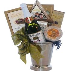 Wedding gift:Art of Appreciation Gift Baskets Congratulations and Cheers to You, Gourmet Food Ice Bucket With Caviar
