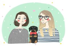 Posts about creativity, illustration, art supplies, travel and other adventures. Graphic Design Illustration, Watercolor Illustration, Super Cute Dogs, Draw Your, Gouache, Presents, Valentines, Let It Be, Drawings