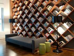 I would love this on one wall in my kitchen for all my cook books and magazines!