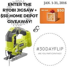 I am excited to announce that I am throwing giveaway with @snazzylittlethings and @apurdylittlehouse via the #30dayflip challenge for January 2016! The challenge is a DIY Organization project on a $50 or less budget. Want to enter the giveaway?  Follow the instructions and share your project on @hometalkteam and on THE DIY FORUM feed. Also, please tag 2 friends that would like this post. I know the hard part of being a #diy blogger is investing in the expensive tools.