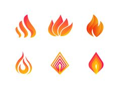 Fire Logo Icons designed by Bojan Gulevski. Connect with them on Dribbble; the global community for designers and creative professionals. Circle Logo Design, Circle Logos, Graphic Design, Typography Logo, Logo Branding, Branding Design, Fire Candle, Flag Logo, Inca