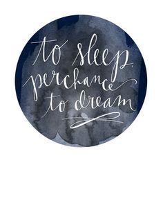to sleep perchance to dream by LK Phipps on Etsy
