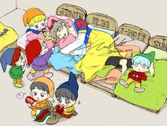 the basket is gucci, suga gives 0 fuks and theres a freaking dumb bell in kookies bed