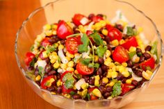 Corn & Black Bean Salad. Update 6/27/15: I made this tonight & we absolutely loved it! Simple & tasty. Colorful too.