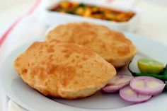 bhature recipe for chole bhature bhature or bhatura recipe. instant bhature recipe without yeast. bhature goes well with amritsari chole. how to make bhature Bhatura Recipe, Dough Balls, Naan, How To Make Bread, Baking Soda, Cooking Recipes, Tasty, Breakfast, Ethnic Recipes