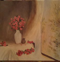 Roses on the window My Arts, Roses, Window, Passion, Painting, Pink, Windows, Painting Art, Paintings
