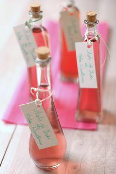Floral vinegars (rose, chive blossom)