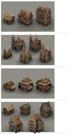 Guild Buildings by BITGEM