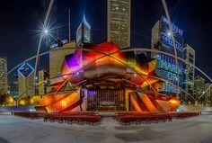 A unique view of Chicago's Pritzker Pavilion from Jason Mrachina.