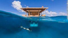 魚に囲まれて眠る部屋 「タンザニア マンタ・リゾート」