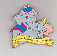 Disney Auctions Mother's Day Mrs. Jumbo & Baby Dumbo Elephant LE 100 Pin RARE