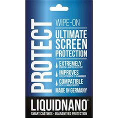 Shop LiquidNano Nano Coating Screen Protector for Most Cell Phones at Best Buy. Find low everyday prices and buy online for delivery or in-store pick-up. Best Buy Store, Tag Design, Friends Show, Glass Screen, Screen Protector, Cool Things To Buy, I Am Awesome, How To Apply