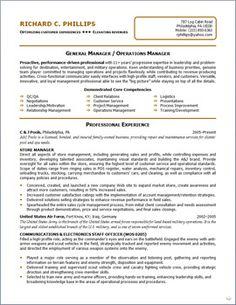 operations management resume
