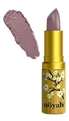Noyah Natural Lipstick, Smoke, 16 oz. Natural ingredients and never tested on animals. Packaging made with bamboo. Made in the USA.