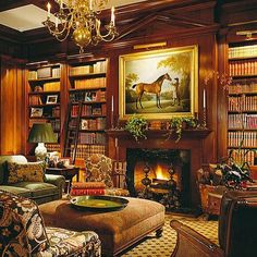 Warm and cozy spaces Photo:Pinterest #ontheblog #linkinprofile #traditionaldecoratingstyle #pinterest #everydaylivingwithbutchandpam #fireplace #cozy #interiors #decor #lifestyleblogger #instadesign #library.  Favorite.