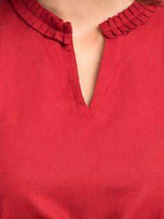 Order contact my whatsapp number 7874133176 Maroon Khadi Kurta Kurti Sleeves Design, Sleeves Designs For Dresses, Neck Designs For Suits, Kurta Neck Design, Neckline Designs, Dress Neck Designs, Blouse Designs, Churidar Neck Designs, Kurta Designs Women